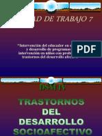 TRASTORNOS DESARROLLO SOCIOAFECTIVO