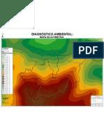 Morro do Elefante - Tijuca - RJ. Mapa de Altimetria