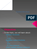 Lecture 04 Control Structure