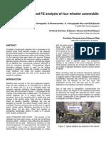 Fatigue Analysis of an Automotive Stabilizer Bar