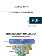 Ecological Equilibrium Seminor