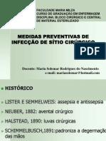 MEDIDAS PREVENTIVAS DE INFECÇAO DE SITIO CIRURGICO