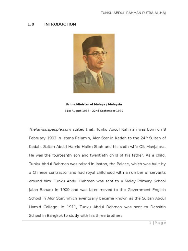 essay about tun abdul razak
