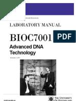 BIOC7001 – Advanced DNA Techniques 2011_FINAL
