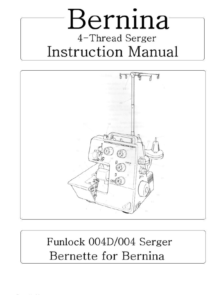 Magnificent Bernina 004 004D Funlock Master Sew Usa R Sewing Machine Seam Wiring Database Rimengelartorg