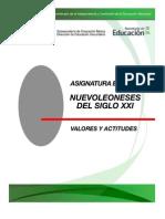 Programa de Nuevoleoneses del Siglo XXI, Valores y Actitudes 2011-2012