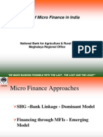 Status of Micro Finance in India