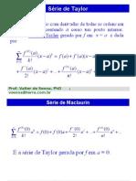 Calculo II (Taylor e Funcoes I)