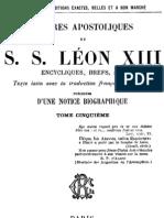 Lettres Apostoliques de S.S.leon XIII - (Tome 5)
