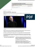 2011-10-05 - Steve Jobs, Apple Founder, Is Dead