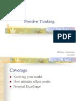 Positive Thinking 23.11.10