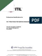 ITIL Foundation Certificate Syllabus v5.2