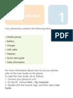 31010CTU - HUAWEI U8230 Mobile Phone Quick Start Guide