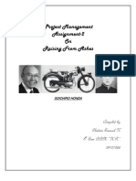 Project Management Assignment 2- Soichiro Honda