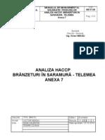 ANEXA 7 ANALIZA HACCP- Br. in Saramura,Telemea