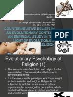 Counter Intuitive Beliefs in an Evolutionary Context