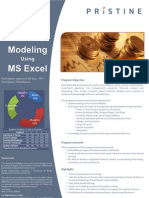 Pristine Financial Modeling Brochure