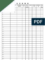 Usana Order Sheet