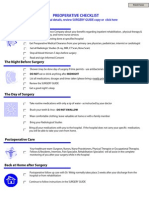 Preoperative Surgery Checklist 10-07