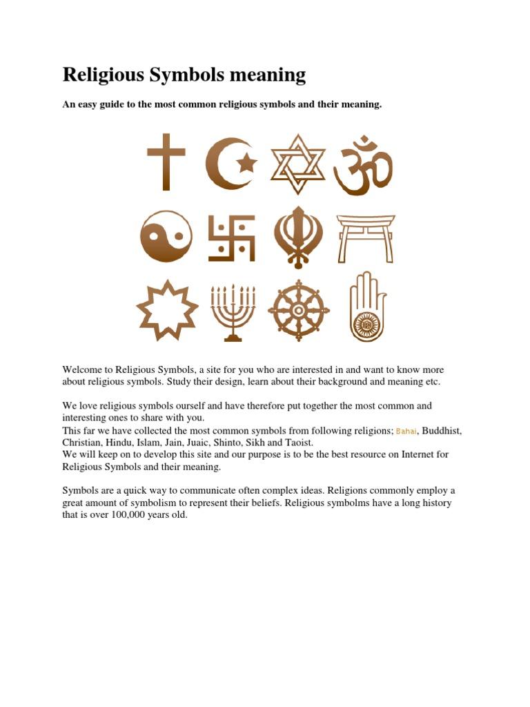 Religious Symbols Meaning Gautama Buddha Dharma