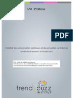 Visibilité des personnalités politiques et des actualités sur Internet – du 26 septembre au 02 octobre 2011