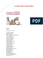 1981 Sabina - 00 - La Mandrágara - Letras