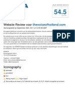 Website Review - The voice of Holland