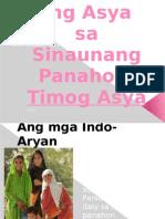 Ang Asya Sa Sinaunang Panahon.group 4