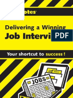Cliffs Notes Delivering a Winning Job Interview - Mercedes Bailey
