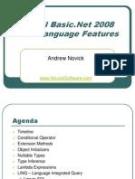Visual Basic.net 2008 New Langage Features Andrew Novick