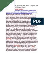 Texto propuestoadaptado del texto original del colombianoDaniel Samper Pizano
