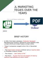 Hul Marketing Starategies Over the Years