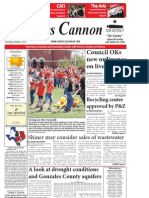 Gonzales Cannon Issue 10-6-2011