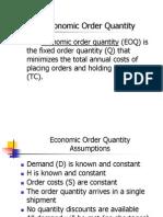 EOQ vs EPQ