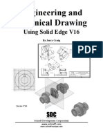 SolidEdge v16 Tutorial Engeneering & Technical Drawing