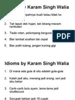 Idioms by Karam Singh Walia