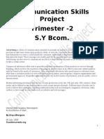 Communication Skills Project