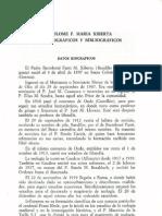 Bartolomé Xiberta - Datos Biográficos e Biliográficos