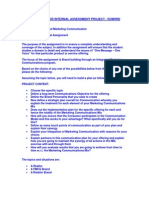 Guidelines for the Internal Project IMC Sept 2011