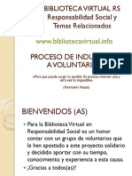 Induccion Voluntarios Biblioteca Virtual RS