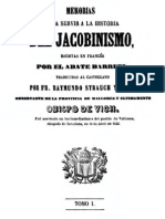 Memorias Para Servir a La Historia Del Jacobinismo (Tomo 1) 000000716