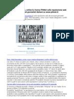 Indagine Reputazione Web Giornalisti online il report PhiNet da scaricare