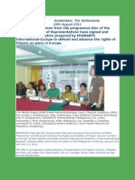 Defending the Rights of Filipino Au Pairs in Europe