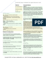 Red Hat Linux Command Line Quick Reference Card