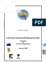 Maori Dept Management Plan From THM