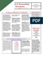 Stewardship Newsletter September 2011