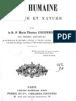 R. P. Coconnier -  L'Ame Humaine - Existence Et Nature