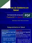Comparación Planes de Salud Fuerza 2011 y Gana Perú