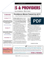 Payers & Providers California Edition – Issue of October 6, 2011