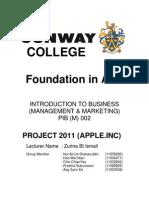 Project 2011 inc